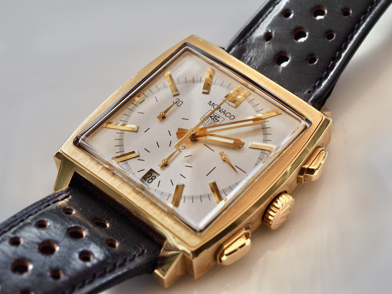 Best Tag Heuer Monaco 18K Gold Replica Watch Online Sale